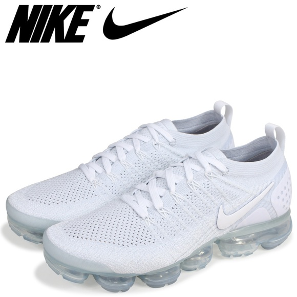 new product 1a5dd ce227 Nike Air Vapor Max Triple White Flyknit Knit 7.5